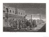 Galileo Shows the Satellites of Jupiter to Venetian Senators, Giclee Print