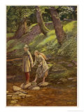 'As You Like It', Rosalind as Ganymede and Celia as Aliena in the Forest of Arden, Giclee Print