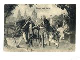 Joseph Haydn with Mozart, Giclee Print