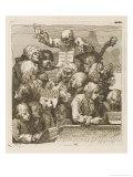 Male Chorus Singing Handels Oratorio Judith, Giclee Print