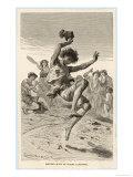 "Tarantella - ""Fringe Cures,"" Curing Tarantism by Dancing the Tarantella, Giclee Print"