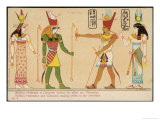 Ptolemy and Cleopatra Make Offerings to Divinities, Giclee Print