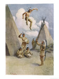Sioux Myth of Ictinike Son of the Sun God, Giclee Print
