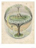 Yggdrasil the Sacred Ash the Tree of Life the Mundane Tree of Norse Mythology, Giclee Print