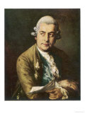 n Christian Bach (1735-1782; youngest son of J. S. Bach), Giclee Print Giclee Print