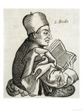 Saint Bede the Venerable, Anglo-Saxon Scholar, Historian, and Theologian, Giclee Print
