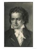 Ludwig Van Beethoven, German Composer Portrait, Giclee Print