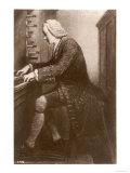 Johann Sebastian Bach German Organist and Composer at the Keyboard, Giclee Print