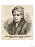 Regiomontanus, Johannes Müller von Königsberg, German mathematician, astronomer and astrologer, Giclee Print