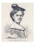 Fredrika Stenhammar, Swedish Singer in the Opera Lucie. Giclee Print