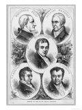 The Leading Slavery Abolitionists in Britain, Sharp Macaulay Wilberforce Buxton and Clarkson, Giclee Print