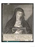 Saint Hildegard von Bingen, German Religious Founder and Abbess of Convent of Rupertsberg, Giclee Print
