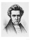 Soren Aabye Kierkegaard, Danish Philosopher, Giclee Print