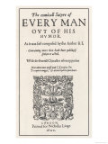 Everyman out of His Humour, Frontispiece of 1600 Edition, Giclee Print