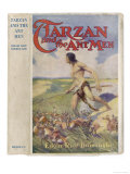 Tarzan and the Ant Men by Edgar Rice Burroughts, Jacket Illustration Giclee Print