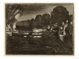 German Monk Berthold Schwarz is Credited with the Invention of Gunpowder, Giclee Print