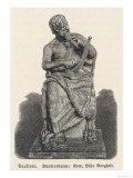 Anacreon Greek Poet Who Wrote Particularly in Praise of Love and Wine, Giclee Print