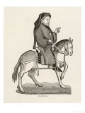 Geoffrey Chaucer English Poet as a Canterbury Pilgrim, Giclee Print