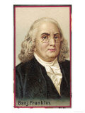 Benjamin Franklin American Scientist and Statesman, Giclee Print