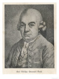 Charles Philipp Emanuel Bach, Giclee Print