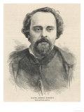 Dante Gabriel Rossetti, Poet and Pre-Raphaelite Artist, Giclee Print