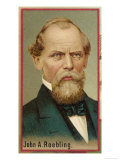 John Augustus Roebling, American Engineer and Industrialist, Born in Germany, Giclee Print