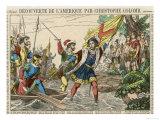 Columbus Lands, 1492 Giclee Print