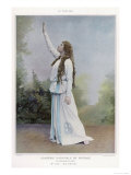 Aino Ackte Finnish Opera Singer Seen Here in 1900 in the Role of Herwine in la Cloche du Rhin, Giclee Print