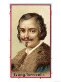 Evangelista Torricelli, Italian Mathematician and Physicist Inventing the Barometer in 1642, Giclee Print