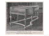 The Silbermann Grand Piano, AD 1746, From the original used by J. S. Bach in the Town Palace, Potsdam Germany, Giclee Print