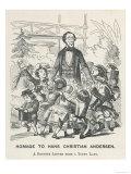Andersen in England 1857, Giclee Print