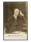 George Frederic Handel German-English Musician, with Signature, Giclee Print