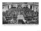 Immigrants Waiting Inspection in the Great Assembly Hall at Ellis Island New York, Giclee Print
