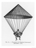 Parachute Successfully Demonstrated by Sebastien Lenormand, Giclee Print