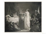 Frederic Chopin Polish Musician on His Deathbed, Giclee Print