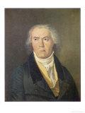 Portrait of Ludwig Van Beethoven (1770-1827) Ferdinand Georg Waldmuller, Giclee Print
