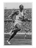 Jesse Owens Breaks the 100 Metre Record, Giclee Print