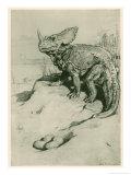 Diplodocus and Allosaurs Dinosaur Poster