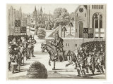 Priest named John Ball Stirs up Great Commotions in England as He Rides Around Preaching, Giclee Print