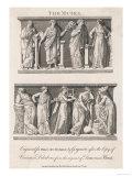 Clio, Thalia, Terpsichore, Eurerpe, Polyhymnia, Calliope, Erato, Urania, Melpomese, Giclee Print