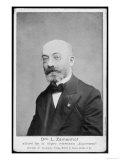 Esperanto Dr. Ludwig L Zamenhof German Linguist Inventor of Esperanto, Giclee Print