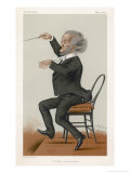 "Richard Wagner, the German Musician Conducts, Sir Leslie Ward ""Spy"", Giclee Print"