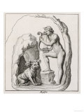 Orpheus and Cerberus, Giclee Print