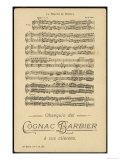 Part of the Score of Auber's Opera la Muette de Portici, Giclee Print