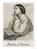 Christina Rossetti, English Poet, Giclee Print