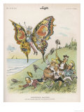 Candidates in the United States Chasing the Presidential Butterfly in the Form of Uncle Sam, Giclee Print