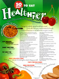 50 Ways To Eat Healthier Poster