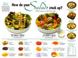 Salads Comparative, Laminated Poster