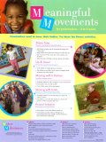 Meaningful Movements, 3-5 Years, Laminated Poster