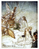 Midsummer Night's Dream Art Print, Arthur Rackham